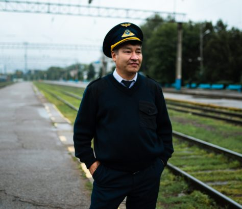 A station manager standing by a platform in Almaty, Kazakhstan. Our picture of the day by Antoine Beguier