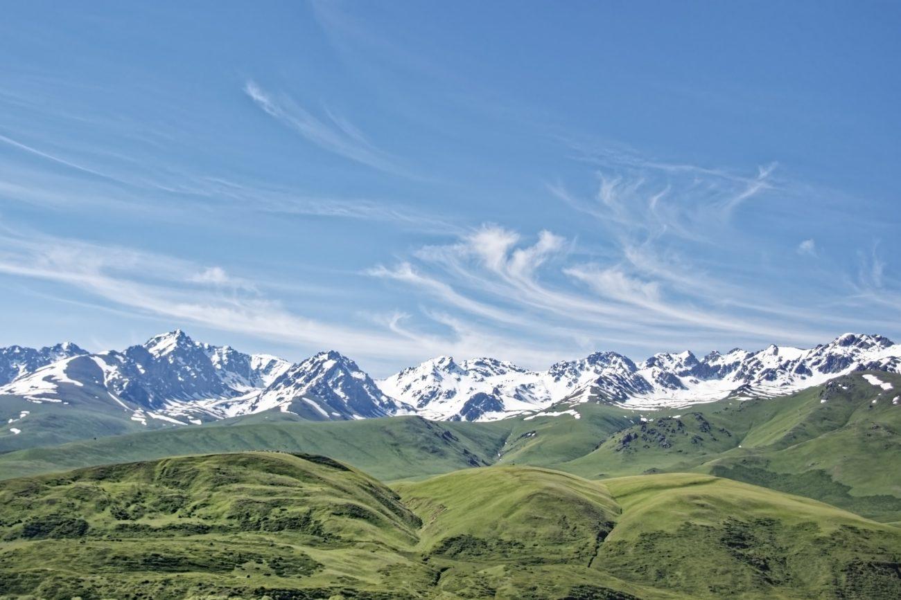 Mountain range Kyrgyzstan