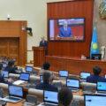 Qassym-Jomart Toqaev addresses Kazakhstan's parliament