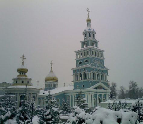 uzbekistan Tashkent cathedral winter Russian orthodox religion