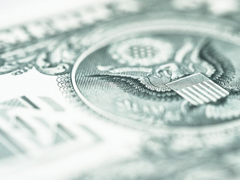 Detail from a US dollar bill