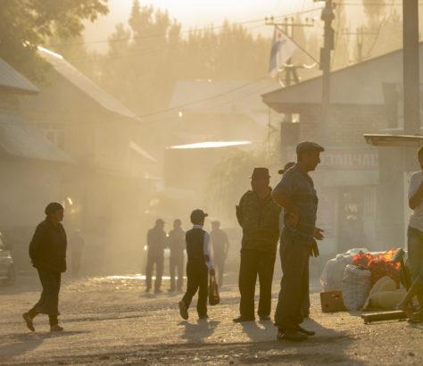 Kyrgyzstan Arslanbob Irina Unruh village market