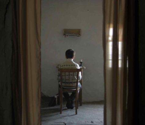 A still from The Wounded Angel