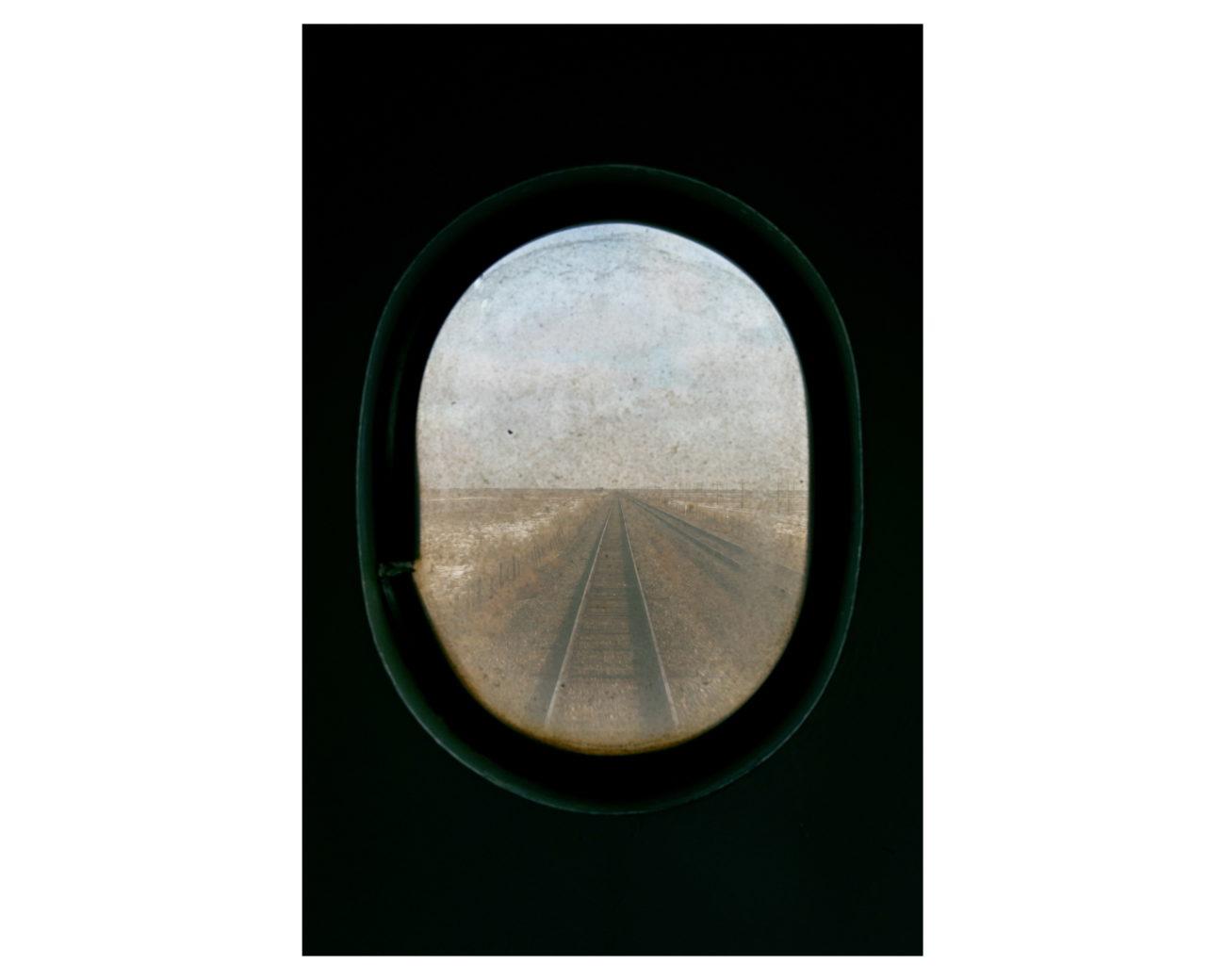 Kazakhstan train steppe
