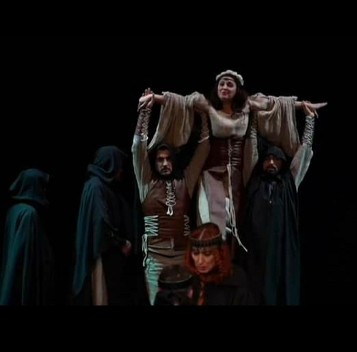 A photo from the Mayakovsky Theatre's staging of Hamlet