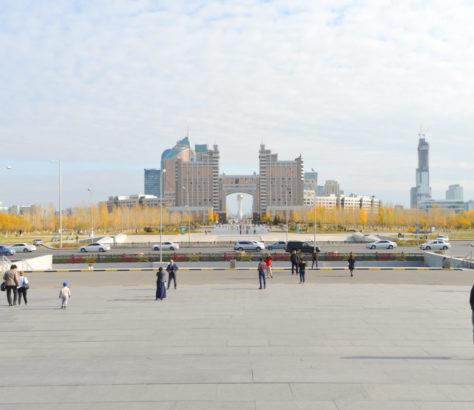 View of Nur-Sultan, the capital of Kazakhstan