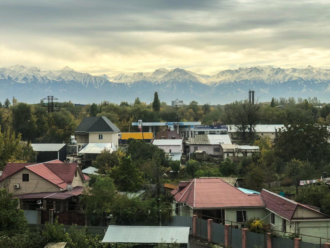 A town outside Almaty (illustration)