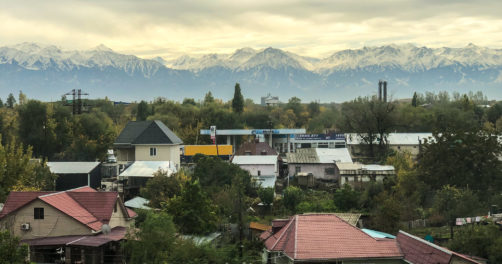 A town outside Almaty (illustration)