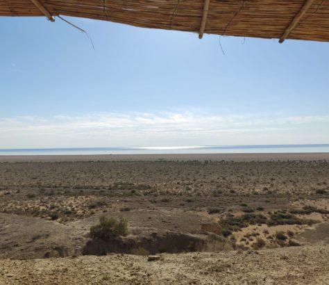 Uzbekistan Aral Sea yurt sun