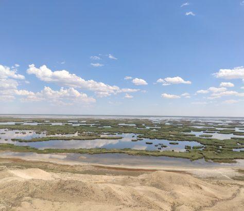 Lake Sudoche Island Uzbekistan Central Asia