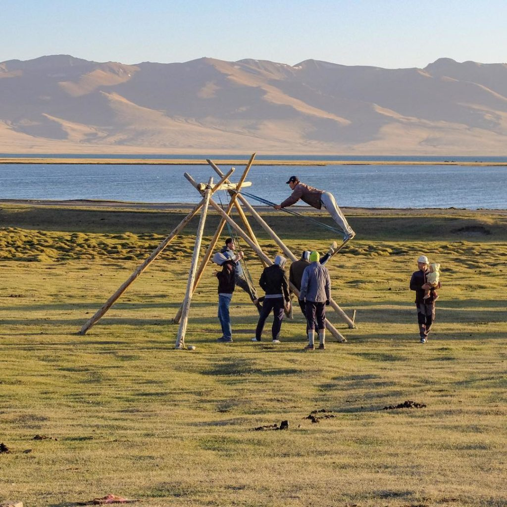Song Kul Lake Kyrgyzstan Swing