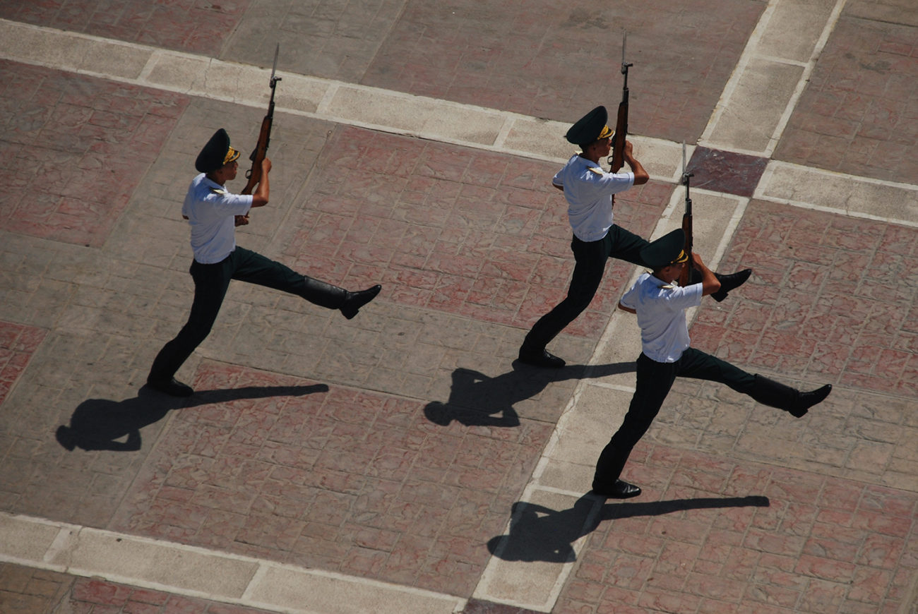 guardsmen monument Ashgabat Turkmenistan.