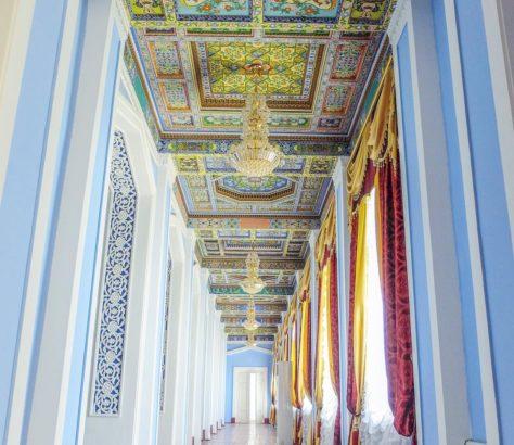 Traditional painting khujand tajikistan ceiling