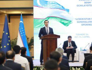 Press conference announcing Uzbekistan's GSP+ status