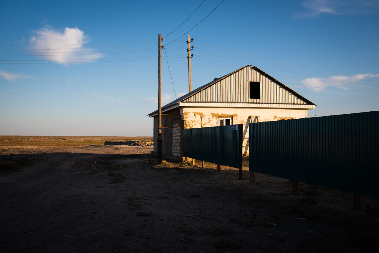 Kazakhstan house Aral Sea