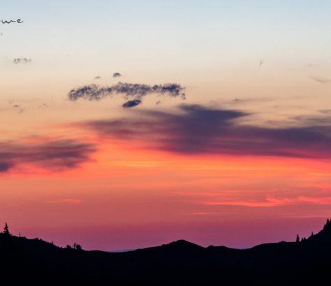 Shymbulak pink sunset kazakhstan almaty