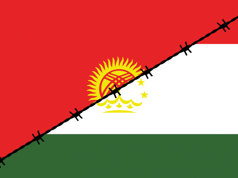 Kyrgyz and Tajik flags