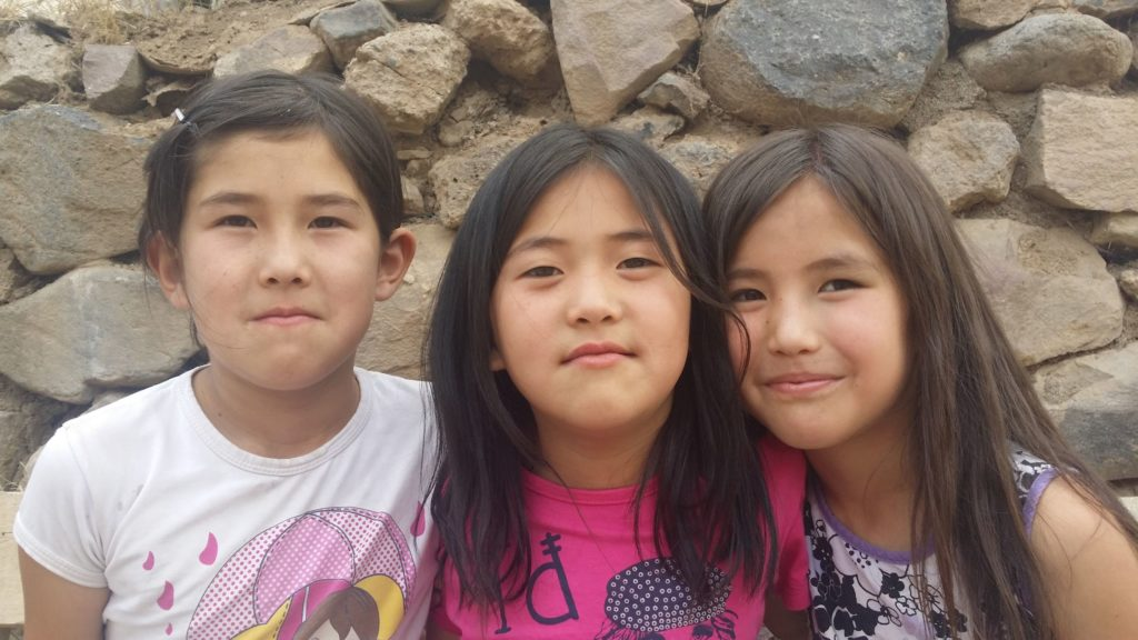 Three young Van Kyrgyz girls.