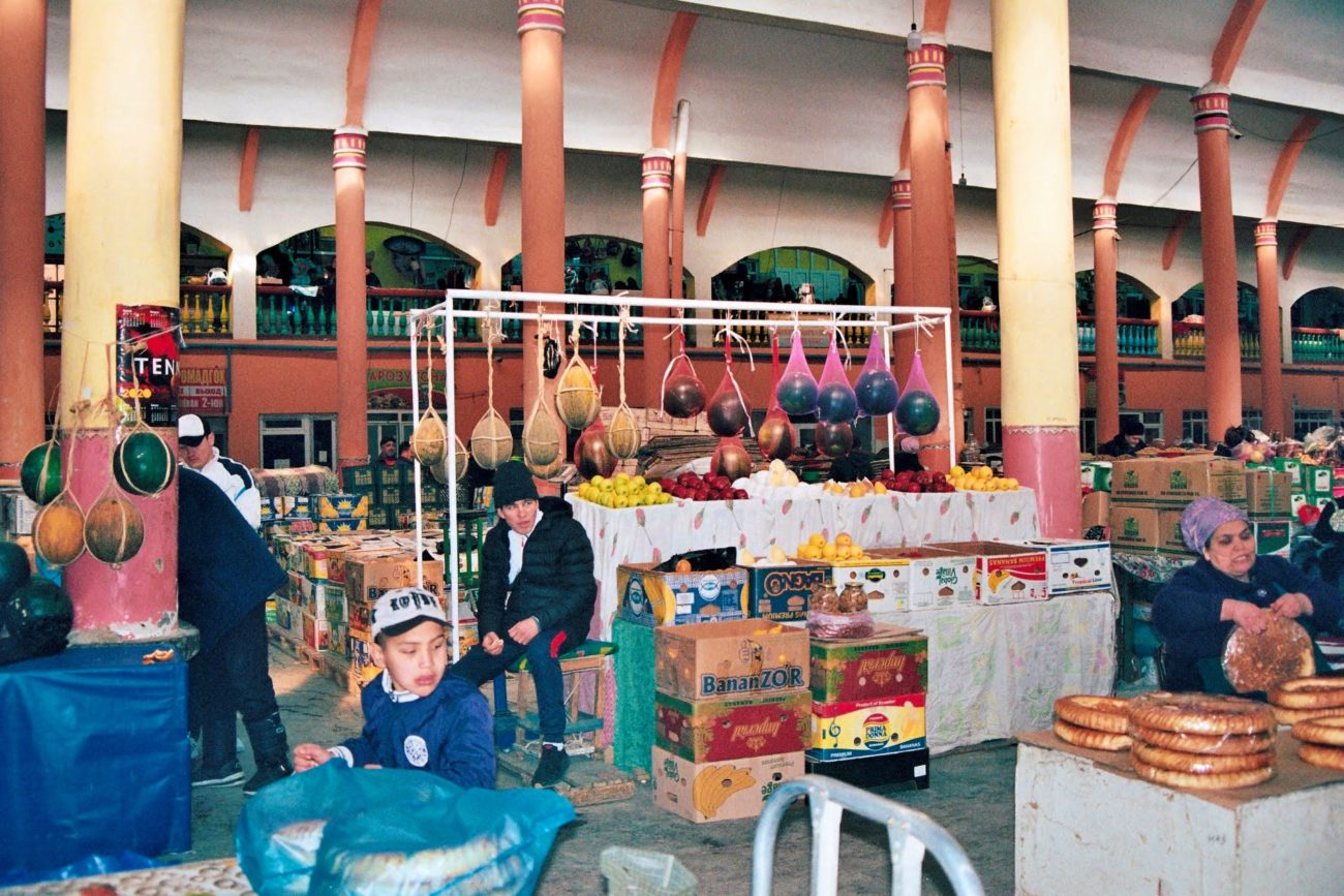 Panjshanbe bazaar Khujand Tajikistan swing