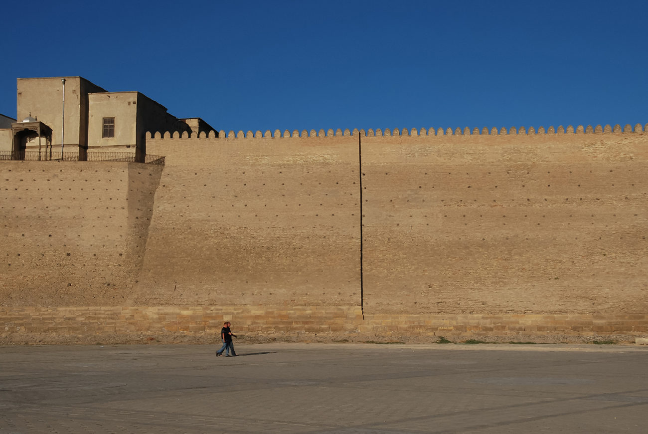 Historic fortress uzbekistan bukhara emirs ark
