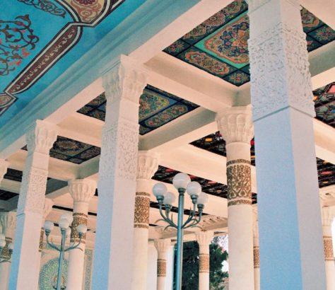 Blueish ceiling dushanbe tajikistan teeahouse