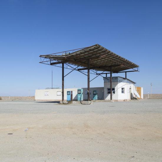 Road, Uzbekistan, Khiva, Boukhara, Gas station