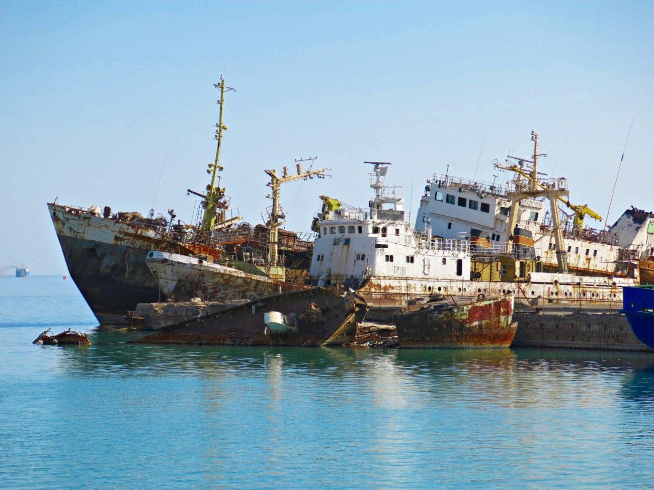 Krasnovodsk Turkmenbasi Ships Turkmenistan
