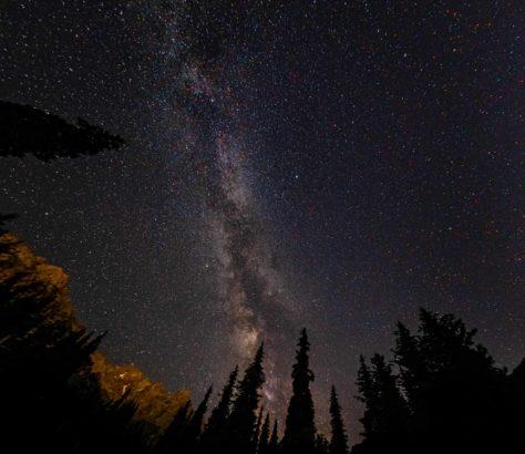 Light pollution kazakhstan almaty night sky stars