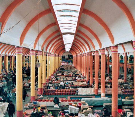 Thursday market bazaar tajikistan khujand colors