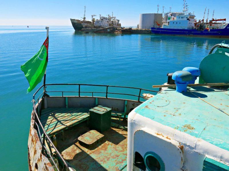 Turkmenistan, Turkmenbashi, Boat, Fishing Port