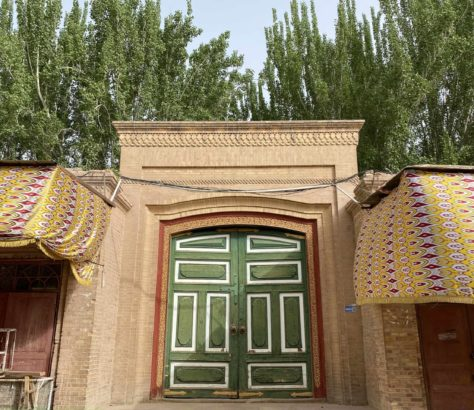 Colorful door china xinjiang mosque kashgar