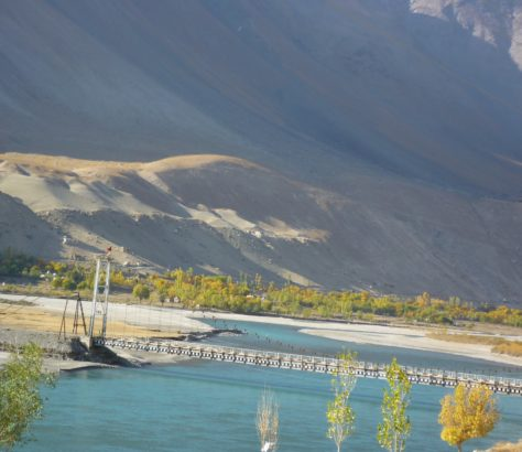 Pandj river Tajikistan Afghanistan
