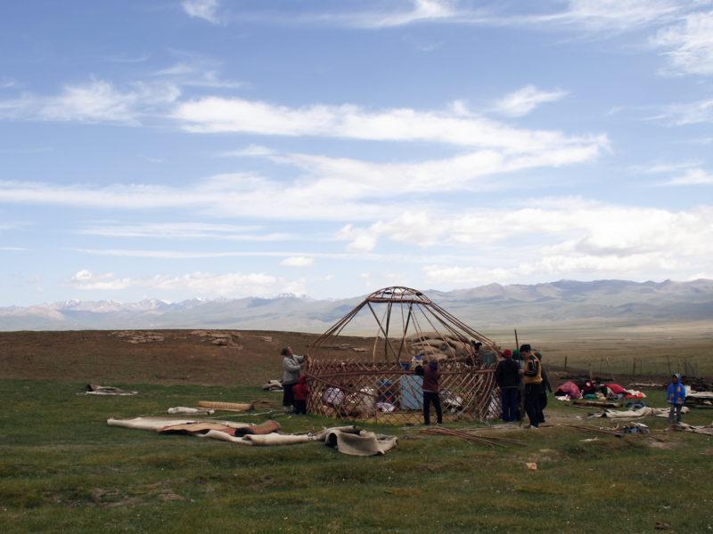 camp yurt Kyrgyzstan Son Kul