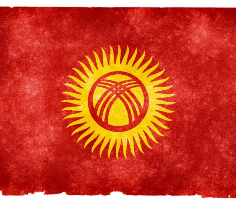 Drapeau Kirghizstan Stylisé