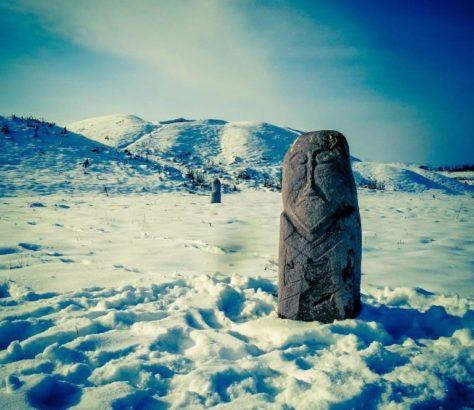 Totem neige Kirghizstan