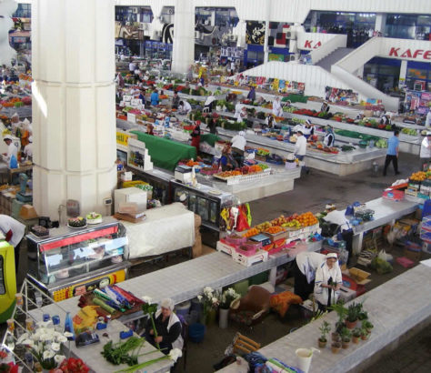 Bazar Turkménistan Achgabat Capitale