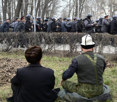 Manifestation Bichkek Kirghizstan