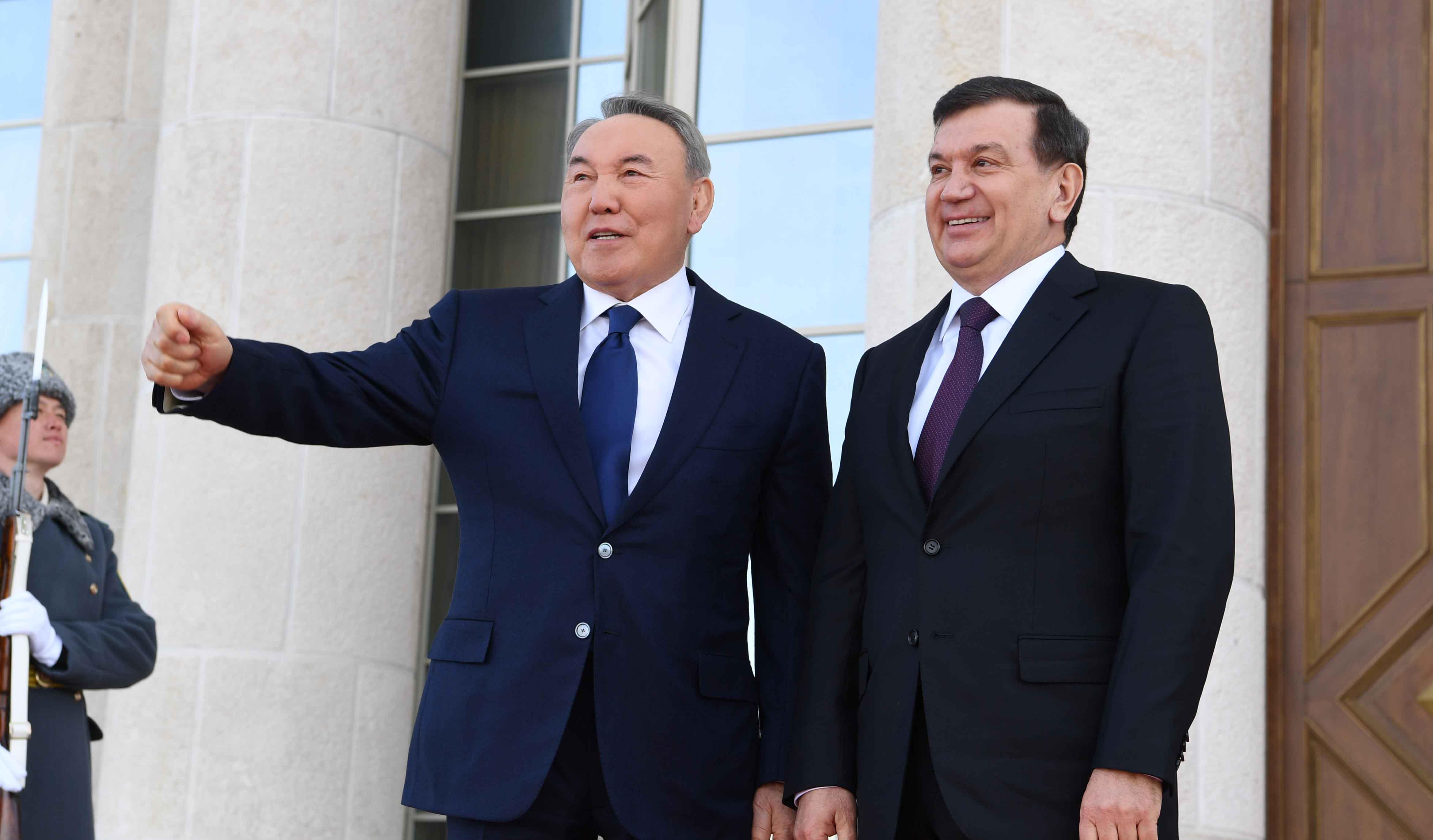 Noursoultan Nazarbaïev Chavkat Mirzioïev Kazakhstan Ouzbékistan Visite
