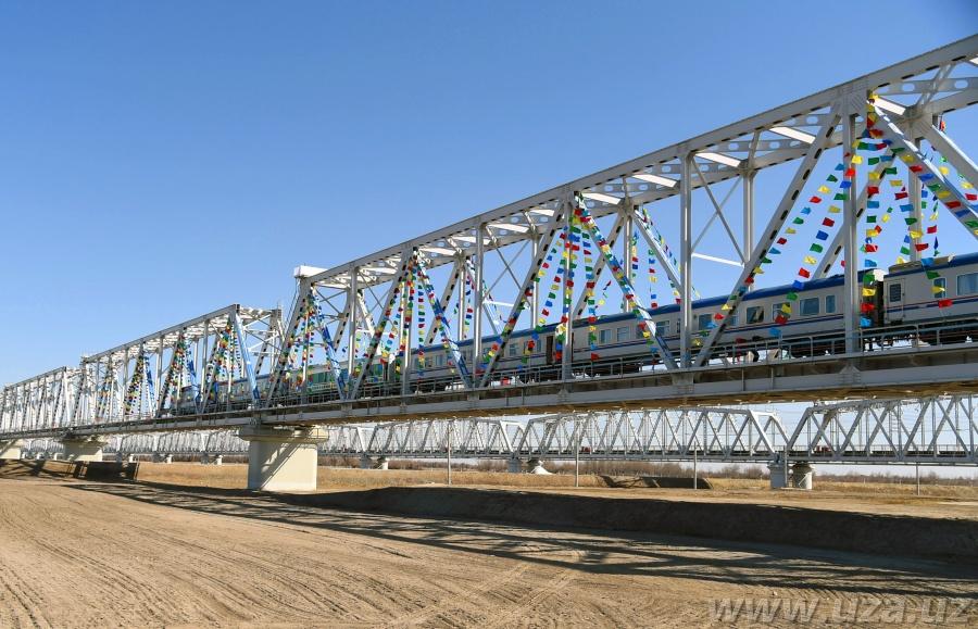 Brücke zwischen Usbekistan und Turkmenistan