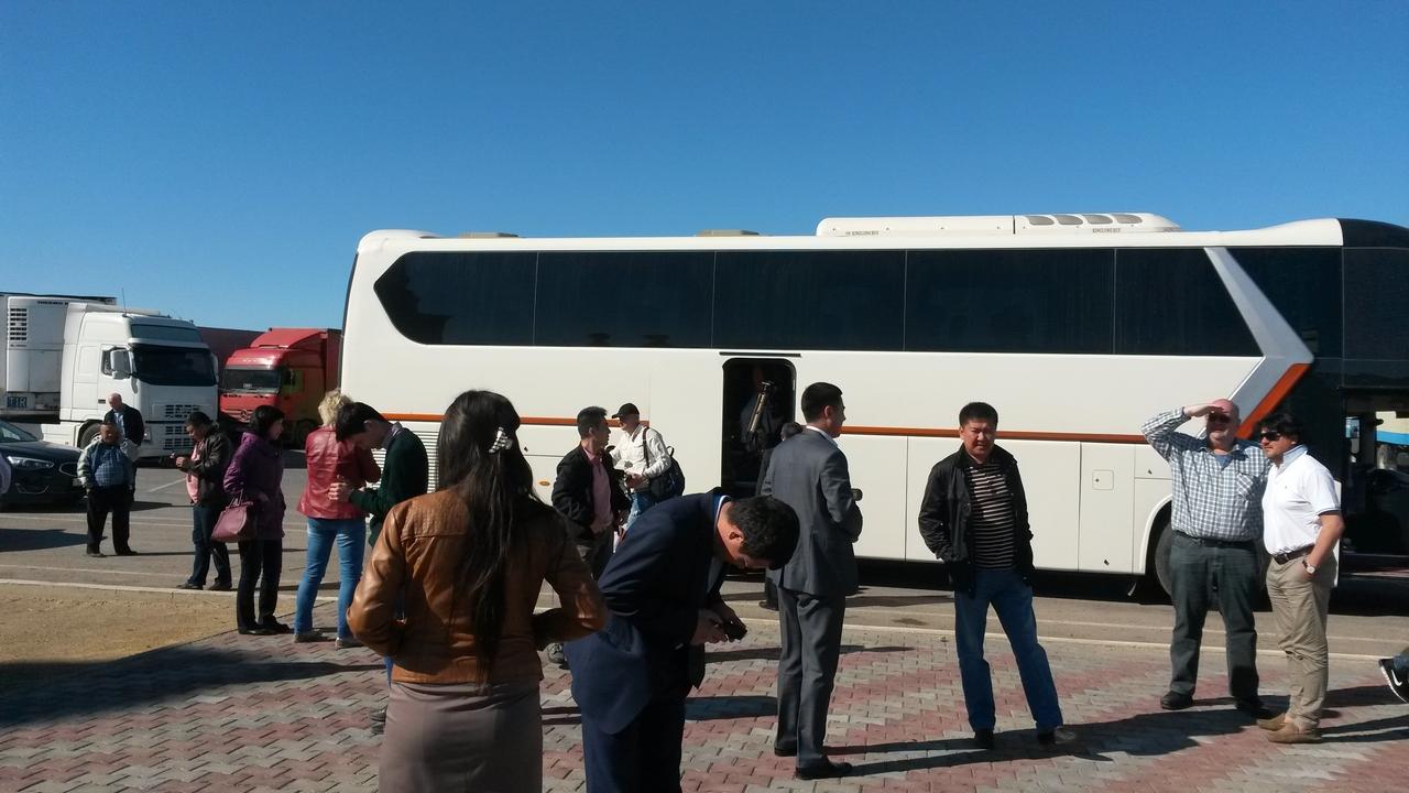 Bus Kazakhstan arrêt