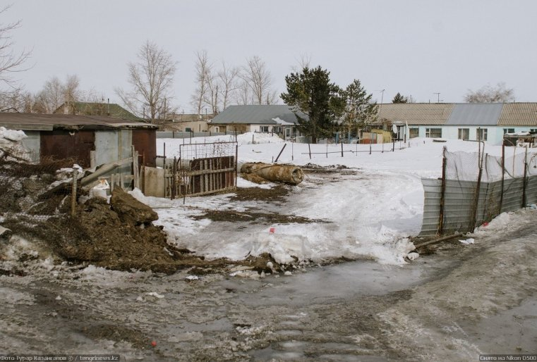 Prigorodny Kazakhstan Rue Déchets