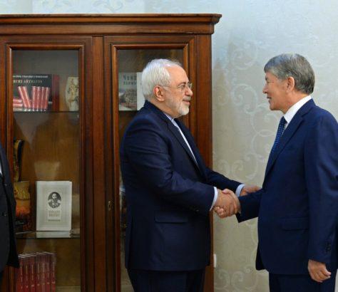 Atambaiev et Zarif au Kirghizstan