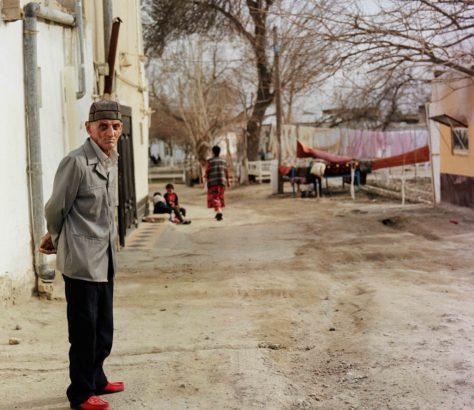 Ancien Boukhara Ouzbékistan Vieil homme Photo
