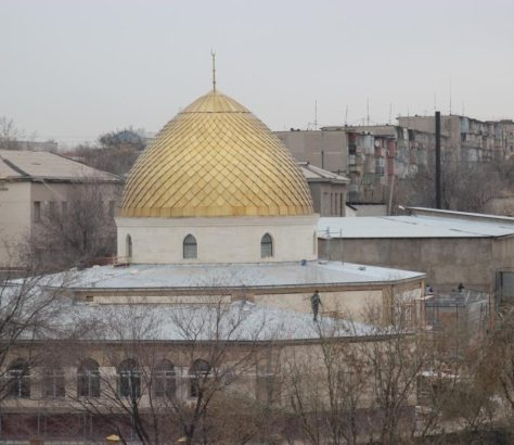 Dome Mosquée Chymkent Kazakhstan Islam