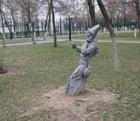 Nomade Téléphone Chimkent Kazakhstan Statue