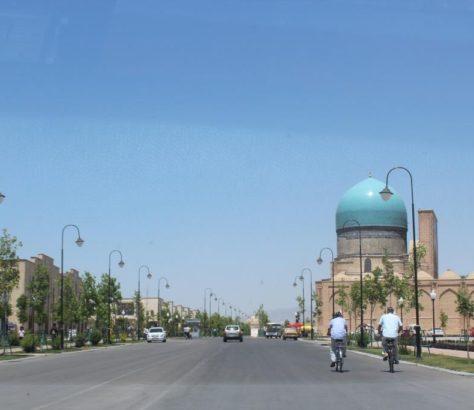 Shakhrisyabz Ouzbékistan Vélo Dome Mosquée
