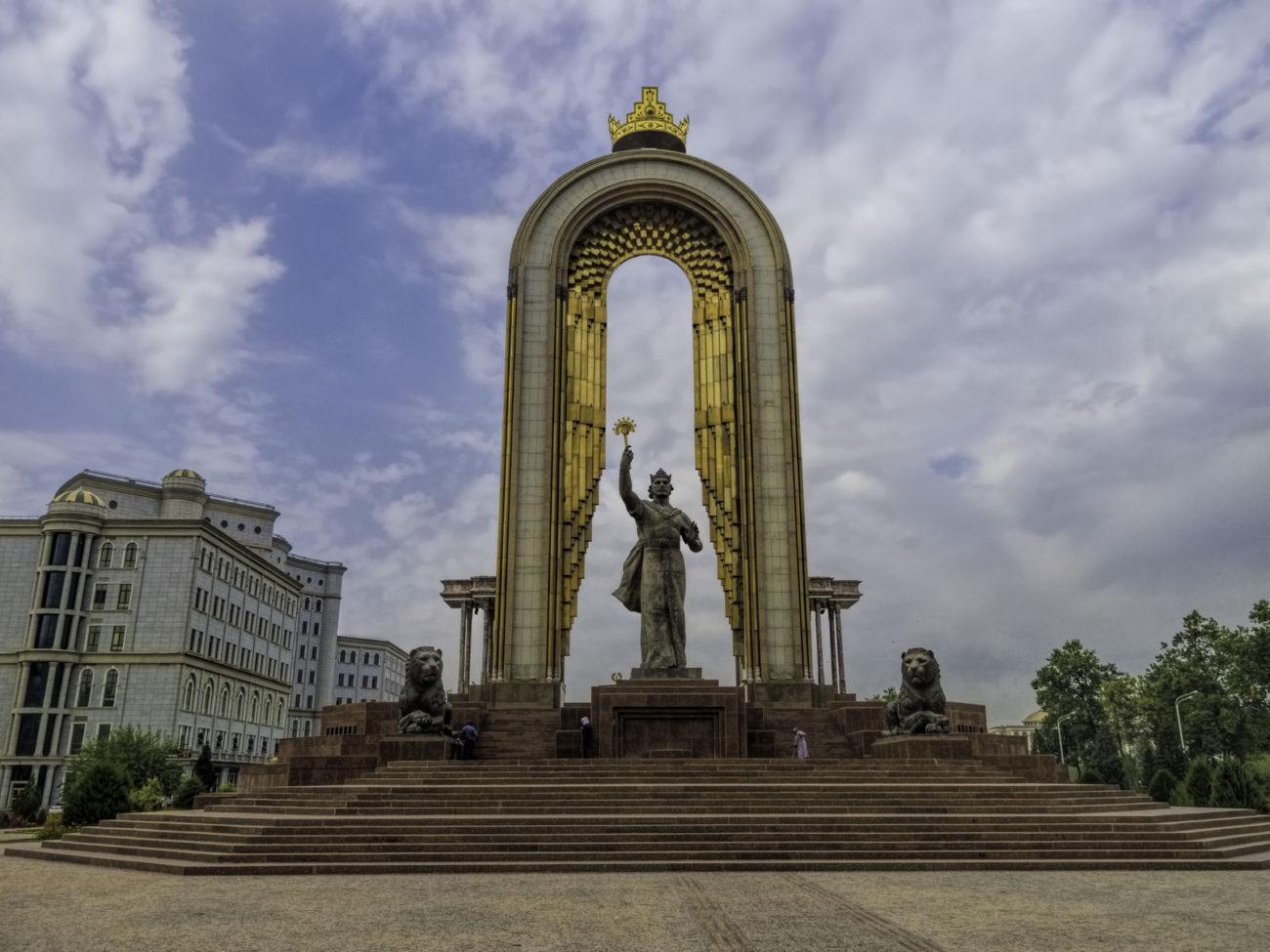 Statue Tadjikistan Douchanbé Ismoil Somoni Place