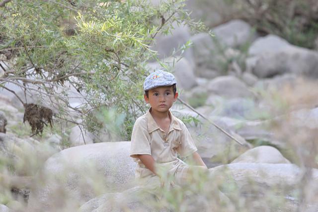 Ouzbékistan enfant Village mouton berger