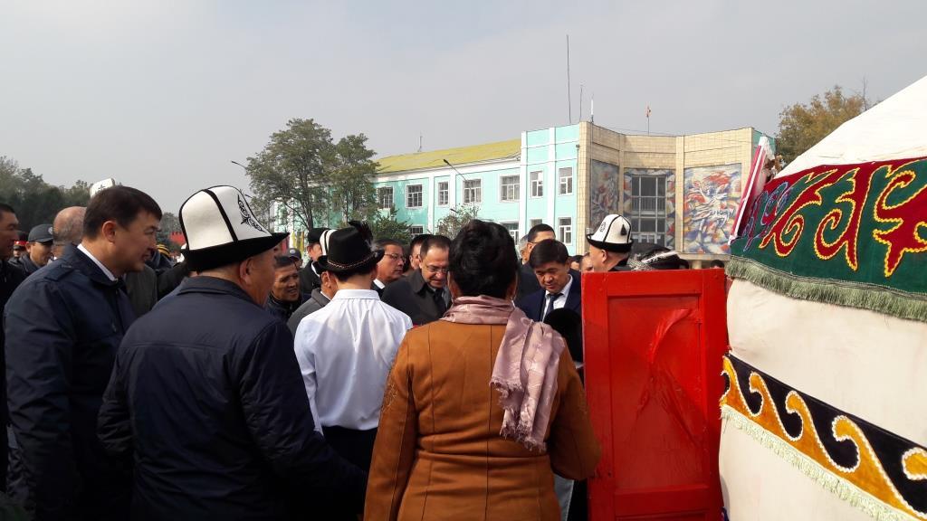 Och Kirghizstan Fête réunion Communautés Frontière