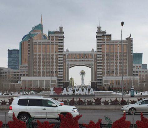 Astana Kazakhstan Ville Bayterek Voiture